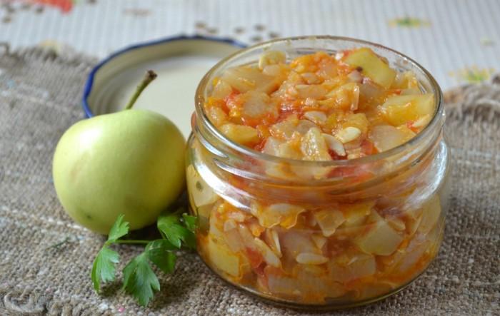 Икорочка из кабачков и яблок: нежный вкус с приятной кислинкой.