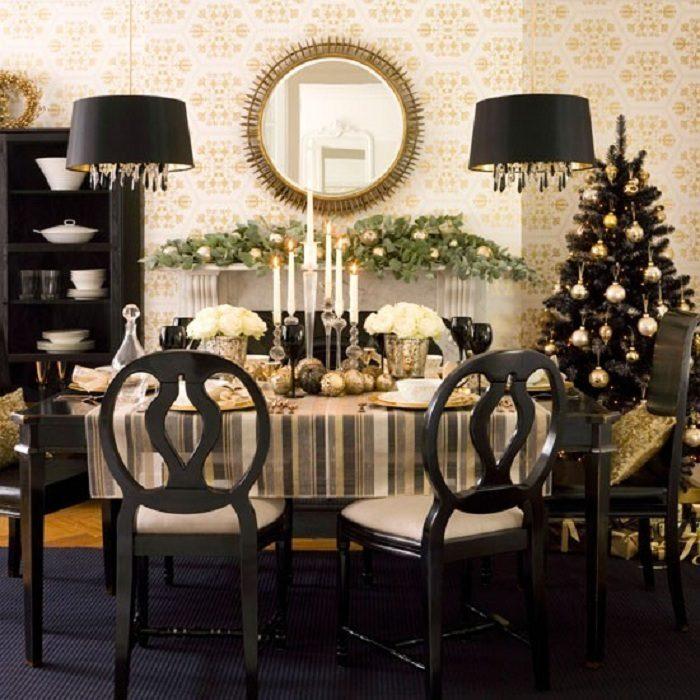 Шикарное украшение комнаты к Новому году