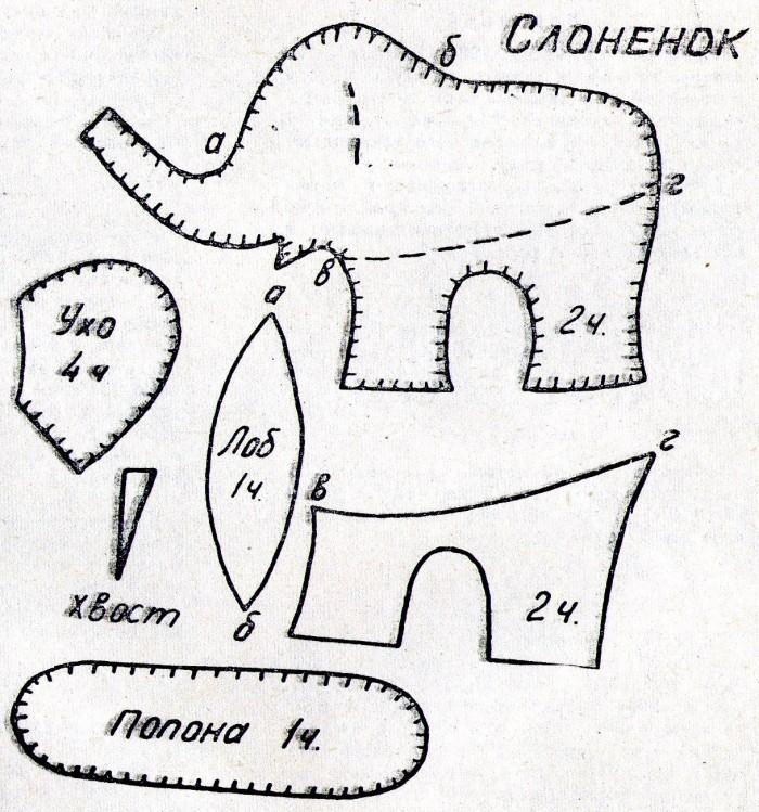 Мягкая игрушка-слонёнок