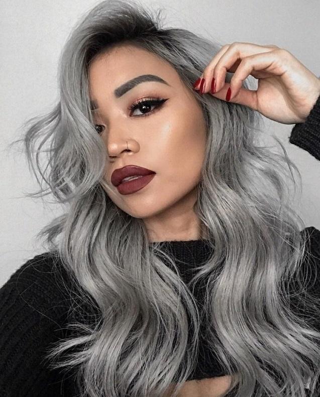 Волосы серого цвета фото