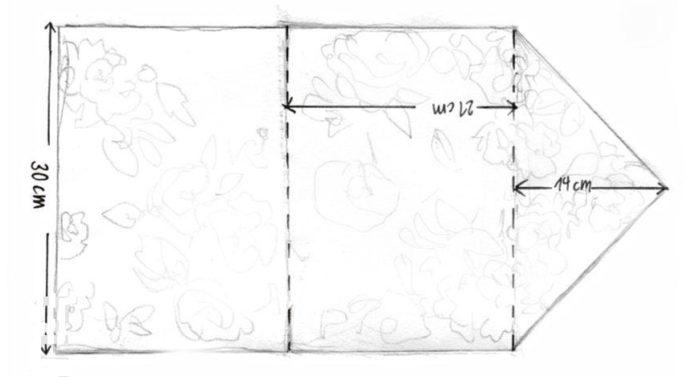 выкройка для клатча-конверта