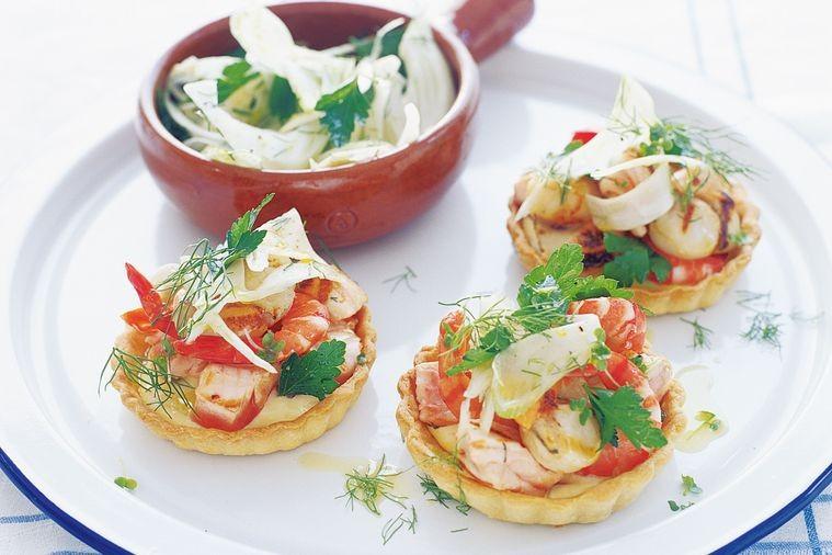 Салат для тарталеток из морепродуктов