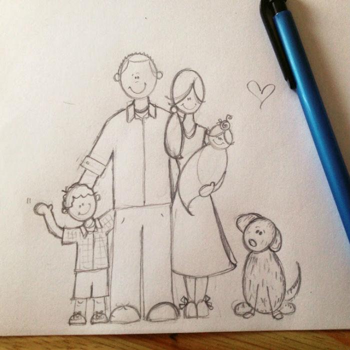 картинки маме и папе карандашом тихие деревушки