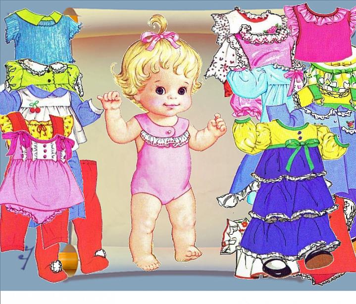 Картинка одень куклу на прогулку