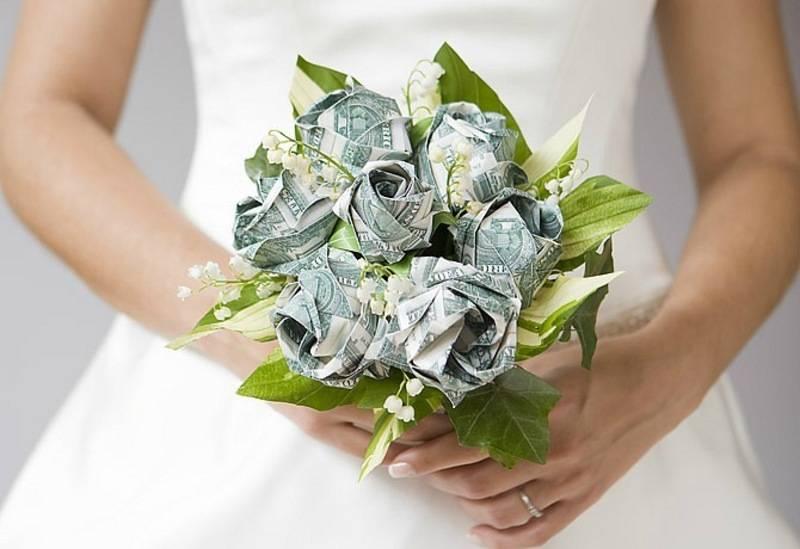 Букет из денег на свадьбу