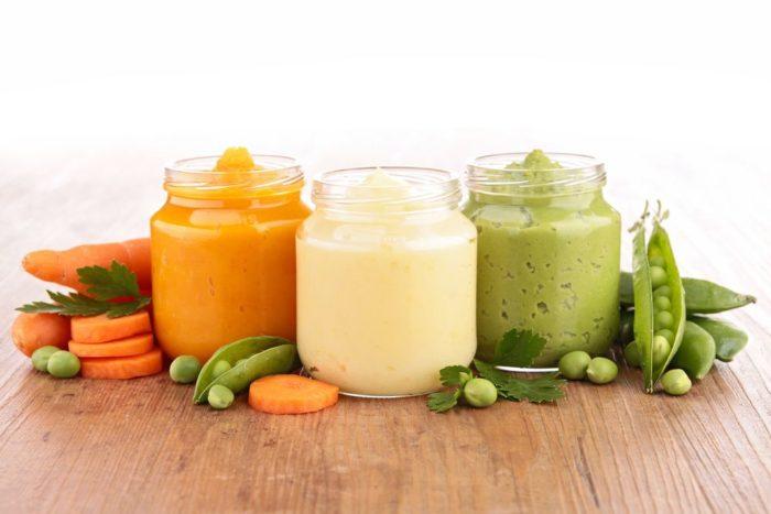 пюре в баночках из замороженных овощей для прикорма грудничку