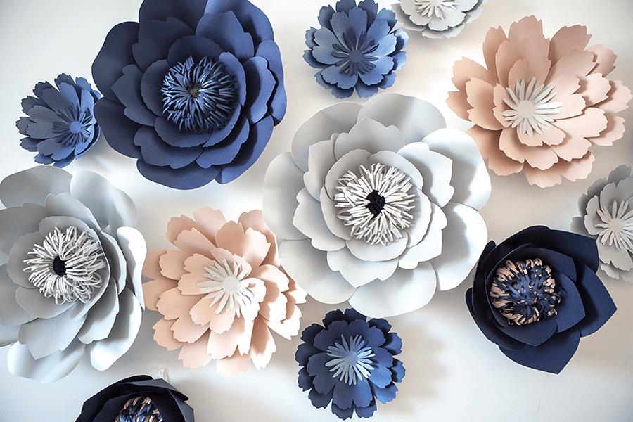 Цветы из бумаги своими руками шаблоны 233