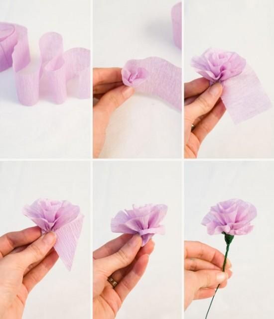 Господь простит, гофрированная бумага цветы для открытки