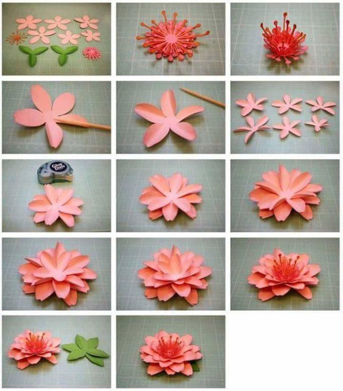 День, как сделать маленькие цветочки для открытки