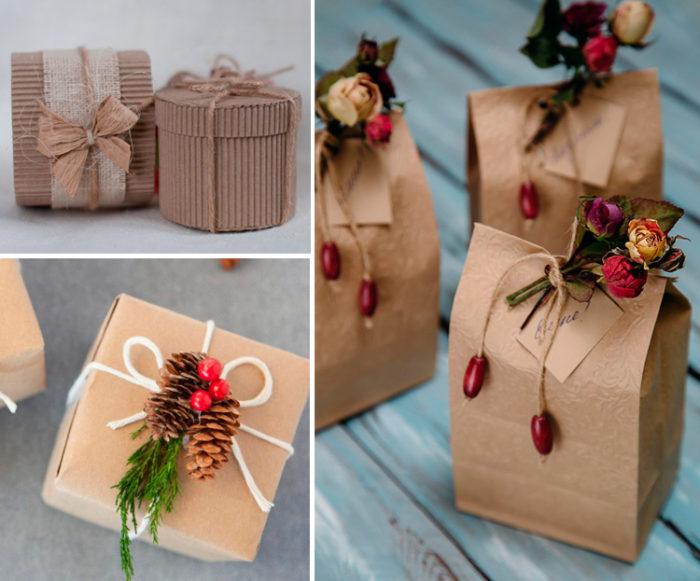 Эко-стиль в упаковке подарка