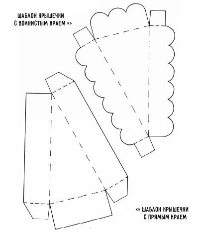 Шаблон крышки с волнистым краем