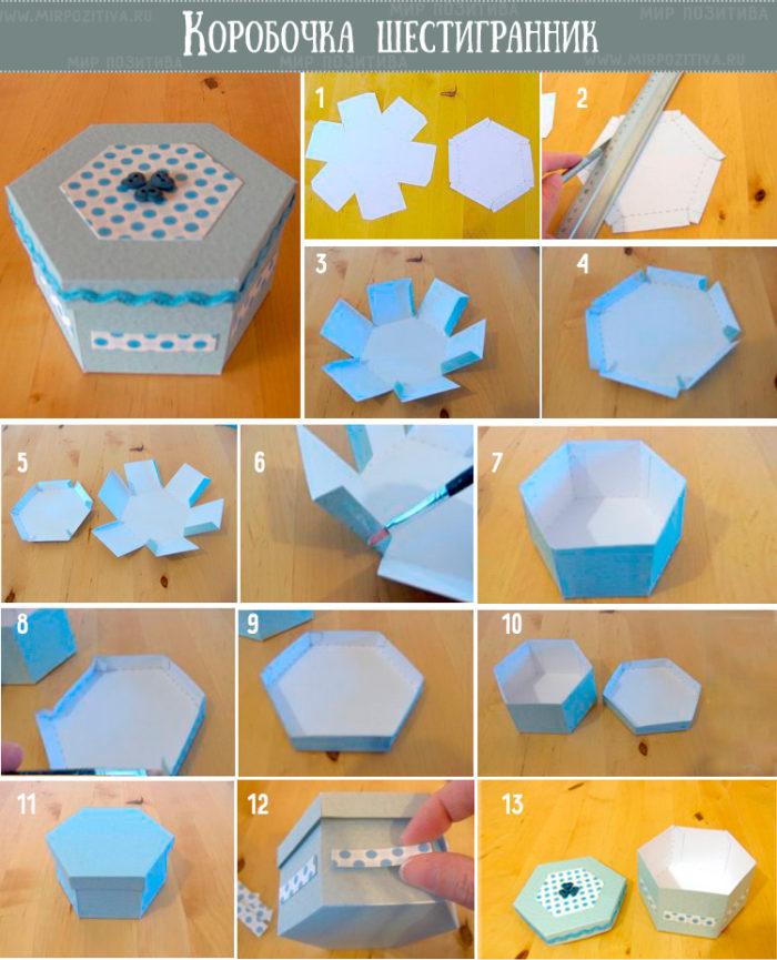 Коробка-шестигранник