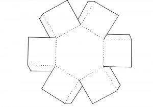 Коробка-шестигранник шаблон